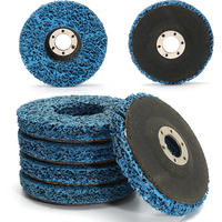 5pcs Blue Angle Grinder Discs 110mm Poly Strip Wheels Paint Rust Removal Clean For Metal Fiber