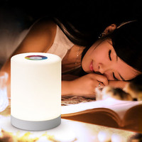 Rechargeable Touch LED Night Light Dimmable RGB Color Change Smart Night Lamp Smart Bedside Lamp For