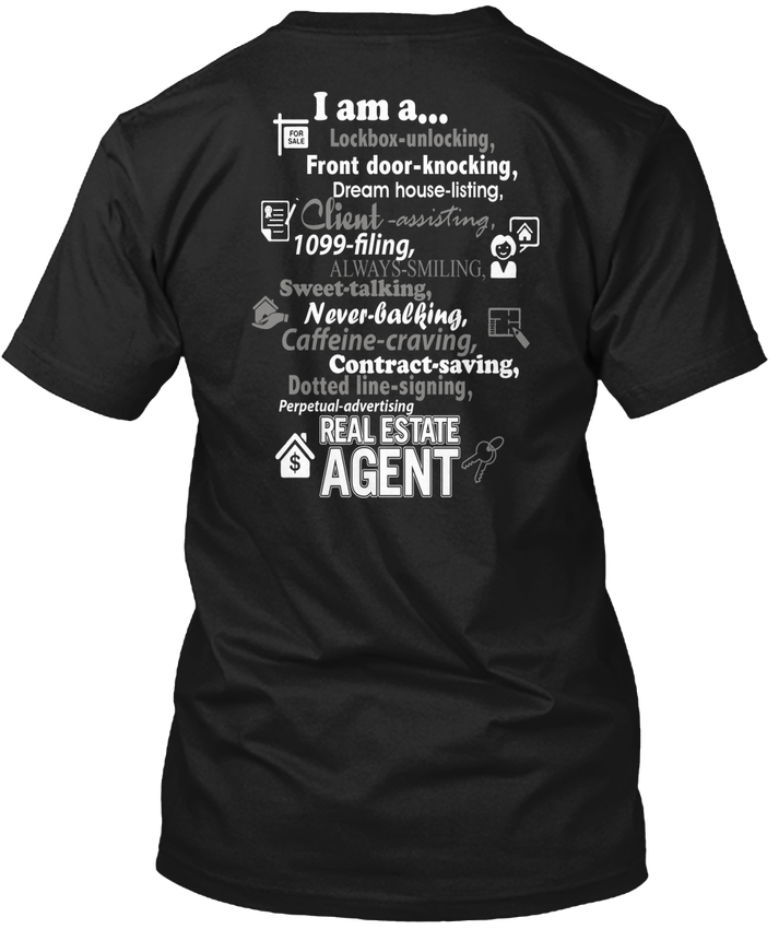 T Shirt Website Premium Men I Am A Real Estate Agent O-Neck Short-Sleeve Tee Shirts ...