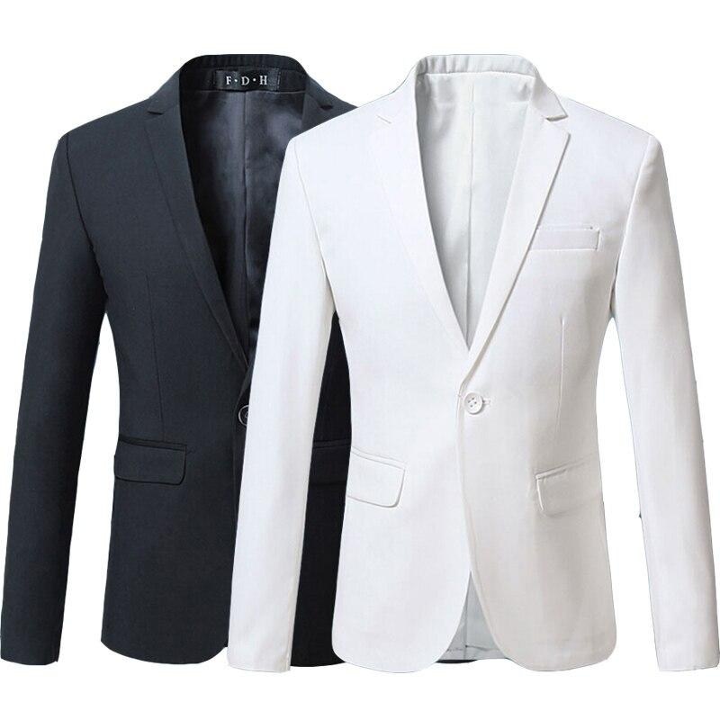 2017 Summer Fashion Red Burgundy Navy Blue Black White Male Suit Blazer Men Casual Slim Fit