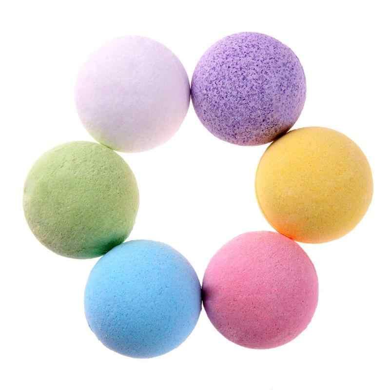 ... 1pc Organic Bath Salt Body Essential Oil Bath Ball Natural Bubble Bath  Bombs Ball Rose  ... b42cf0aa566f