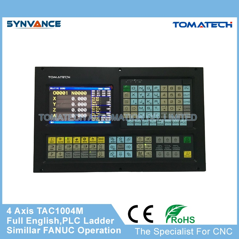 US $550 0  TOMATECH Original the best choice for retrofiting full English 4  axis CNC milling controller with PLC ladder-in CNC Controller from Tools