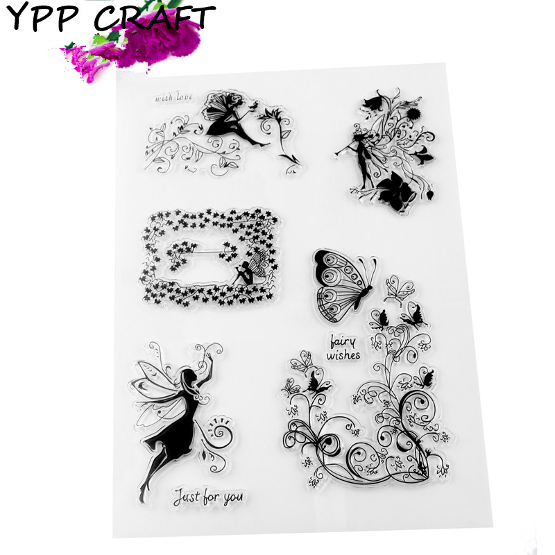 YPP CRAFT Angels Transparent Clear Silicone Stamp/Seal for DIY scrapbooking/photo album Decorative clear stamp sheets about lovely baby design transparent clear silicone stamp seal for diy scrapbooking photo album clear stamp paper craft cl 052