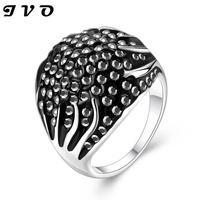 2016 Top Sale Black Zircon Finger Ring For Women Wedding Wholesale New Vintage Fashion Jewelry White