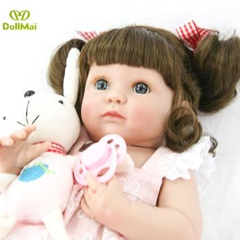35cm Full Body Silicone Reborn Baby Doll Toys bebes reborn 14inch Vinyl Princess Girl  l.o.l dolls surprises Gift Bathe Toys