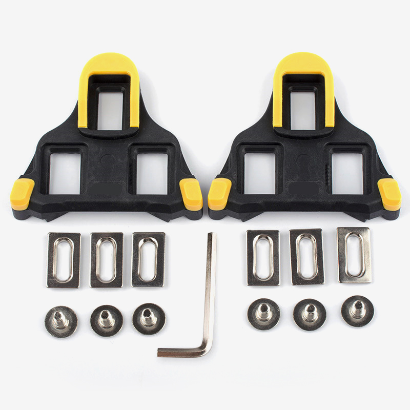 bicycle pedal clipless road self-locking bike pedals Cleat for ultrailght clip folding cycling pedals spd yellow bicycle parts