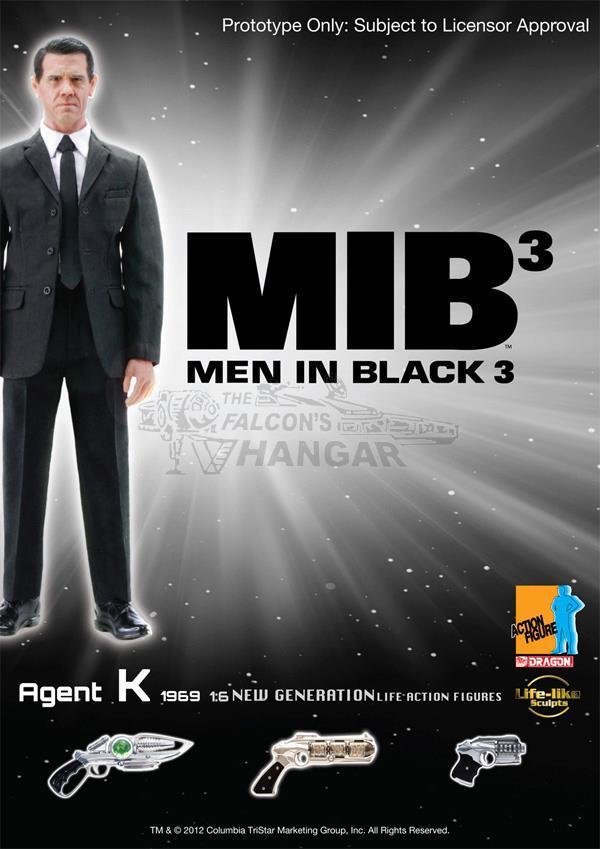 Dragon 73171 CYBER HOBBY MIB3 Men in Black 3 Agent K 1969 Josh Brolin 1 6