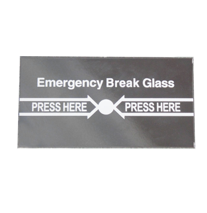 5pcs Emergency Glass Pure English Panel For Break Exit Button Emergency Exit Button Use To Replace The Broken Glass
