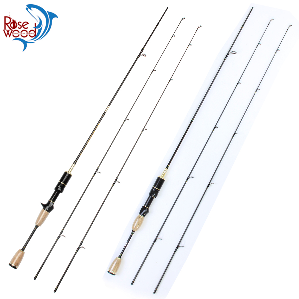 RoseWood Ultra Light Carbon Fishing Rods 1 8m Double Tips Soft Ultralight Spinning Rods Casting Rod