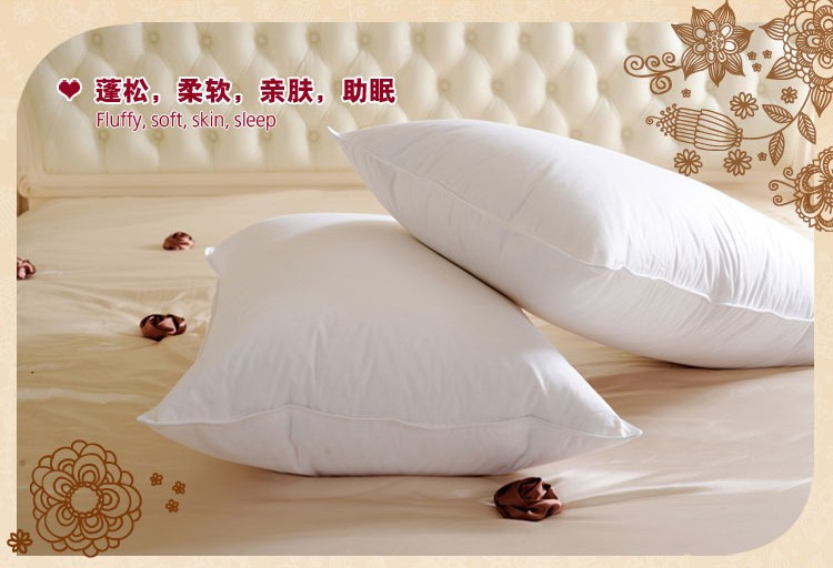 ФОТО Sing Down pillow 70*45cm white filled 900g 40% white duck down/neck health care pillow paypal accepted one/piece