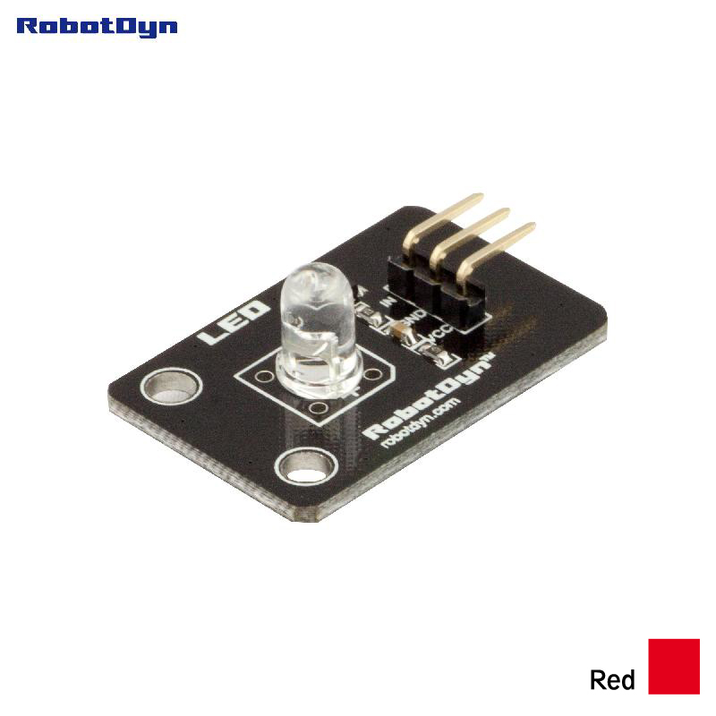 Color LED module (RED). 3.3V/5V