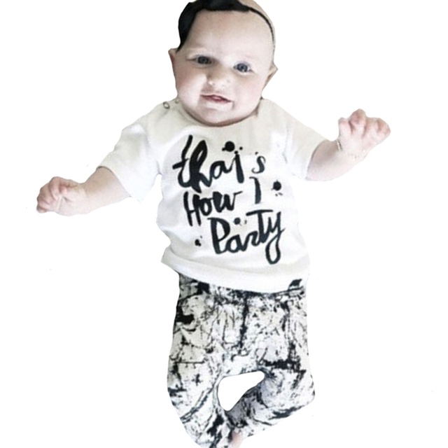 US $7 39 45% OFF|Autumn Toddler Boy Clothing Set 2016 Letter T  shirt+Graffiti Pants 2pcs Girl Toddler Clothing Set New Kids Leisure Set  Christmas-in