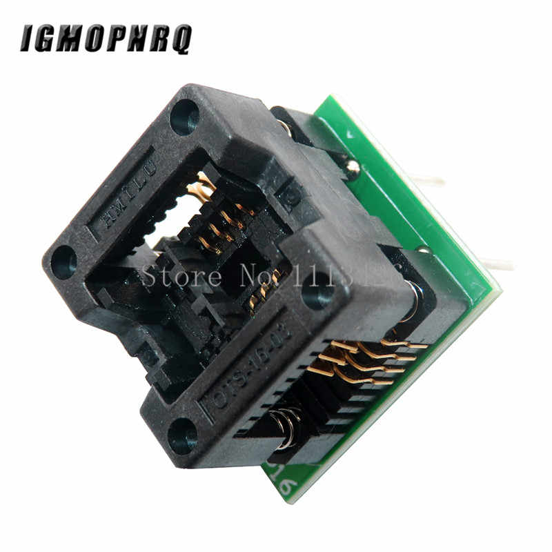 Wide SOIC8 to DIP8 Programmer Adapter IC Test Socket Converter Module 208MIL