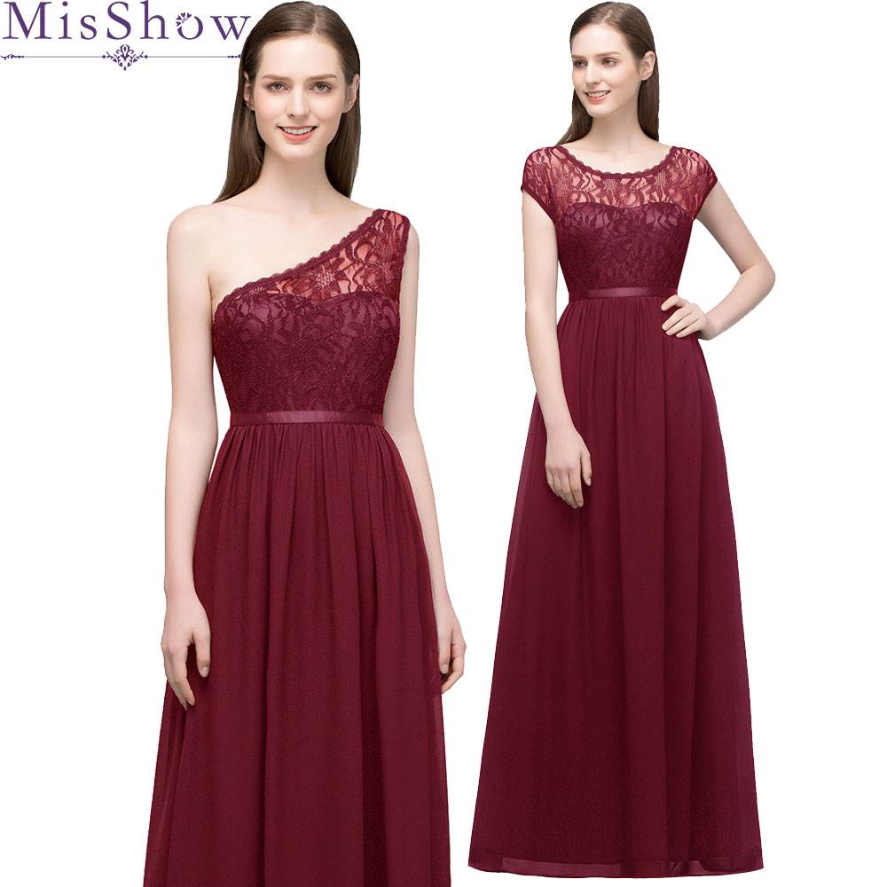 In stock ! fast ship! 2 styles Vestido De Festa burgundy   Bridesmaid     Dresses   Chiffon Beach long   dress   for wedding party for woman