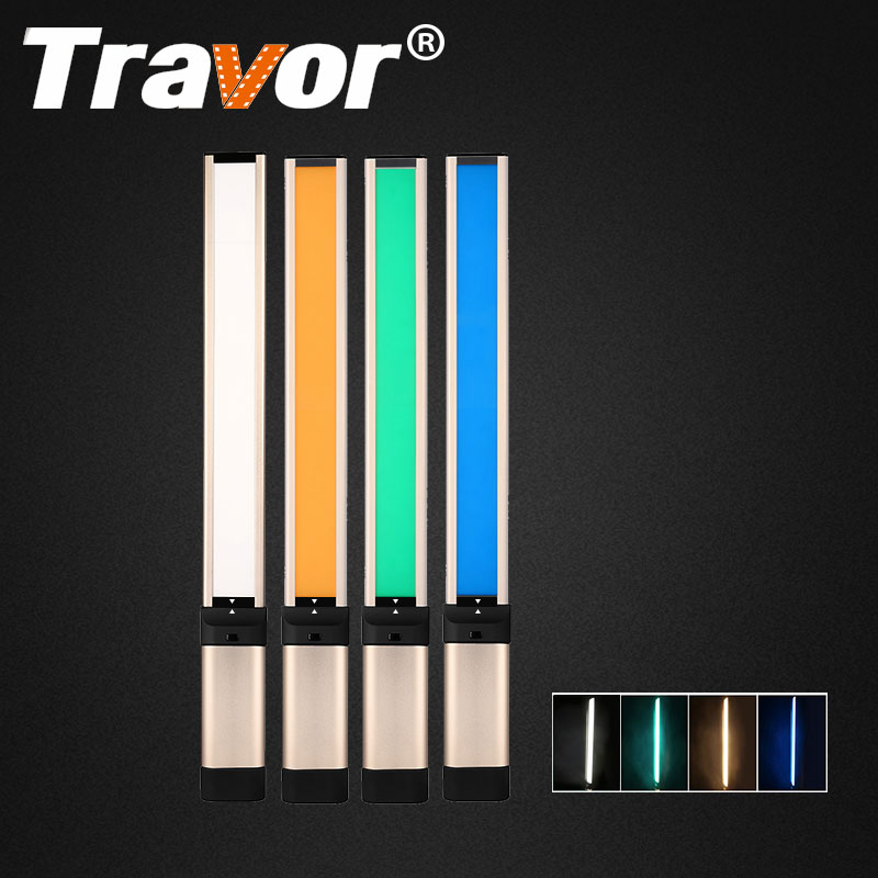 Travor Handheld LED Video Light Fotografía de luz más delgada 7 mm CRI 95 3200K / 5500K con 2 piezas de batería recargable de ion de litio