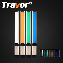 Travor Handheld LED Video Light Photography Lighting L2S slim to 7mm CRI 95 Dimmable 5500K with 2pcs rechargeable 18650 battery