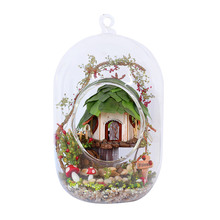 DIY Dollhouse With Furnitures Micro Landscape Craft Ornament Assembly Model Creative Handmade Gift Toys Dream Of Forest GN01 #E