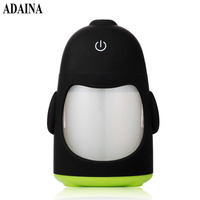 5V USB Powered LED Lamp Penguin Night Light Air Humidifier Cool Mist Aroma Humidifier For Office