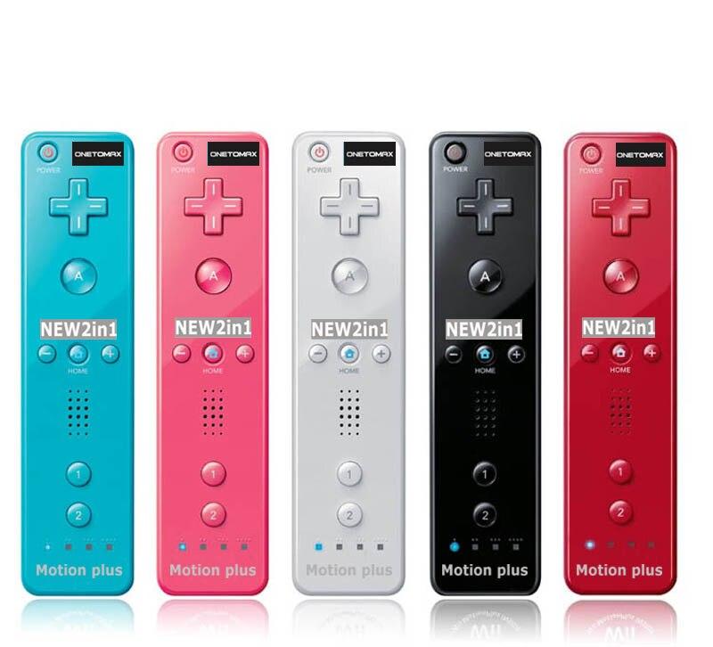 Pour Nintendo 2 dans 1 Pour Wiimote Motion Plus Intégré dans L'intérieur À Distance Contrôleur Pour Wii À Distance Motionplus pour Wii accessoires de jeu