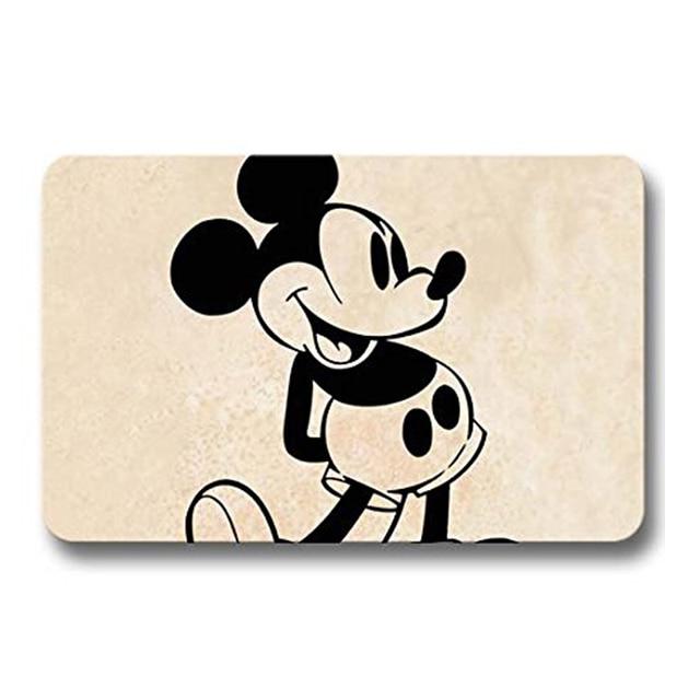 Mickey Maus Vintage Print Vorne Tür Matte Boden Korallen Fleece ...