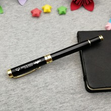 Personalized wedding party giveaways customized gold clip pen wtih your symbol/name nice favors for groomsman
