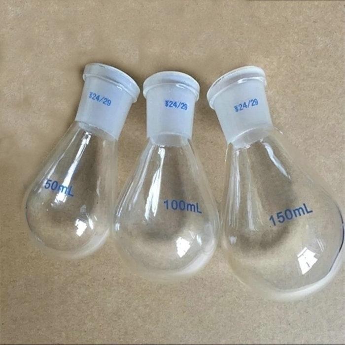 1PCS 25ml to 2000ml, 19/24/29# Chemistry lab eggplant shape glass flask, glass rotary evaporator, rotary flask, rotating bottle все цены