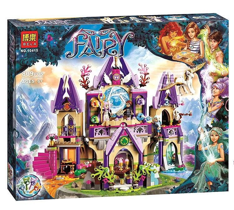 ФОТО 809pcs BELA 10415 friends Elves series Skyra's Mysterious Sky Castle Building Kit blocks brick Elves 41078