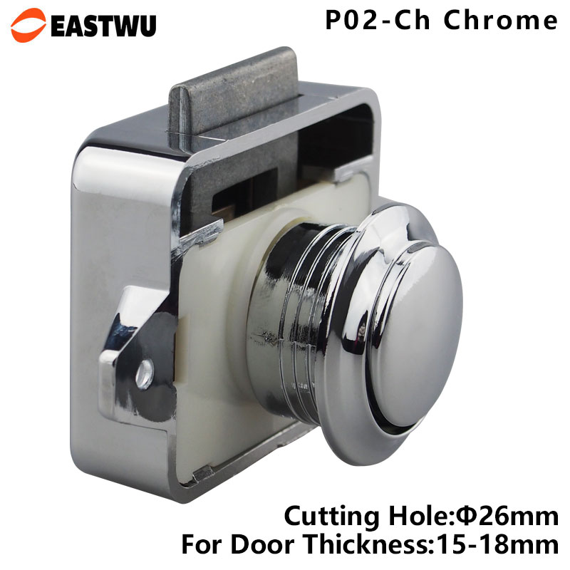 large push lock button catch lock cupboard door knob camper caravan motorhome rv cabinet drawer push latchin locks from home improvement on