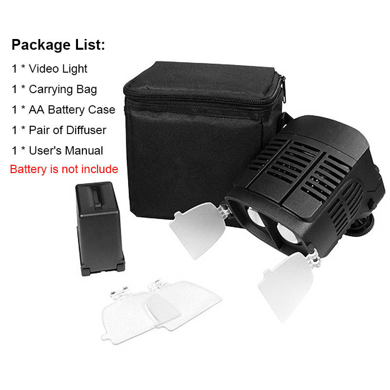 CN-20FC Kamera LED Işık Video Spotlight 3200-5600 K Canon Nikon - Kamera ve Fotoğraf - Fotoğraf 6
