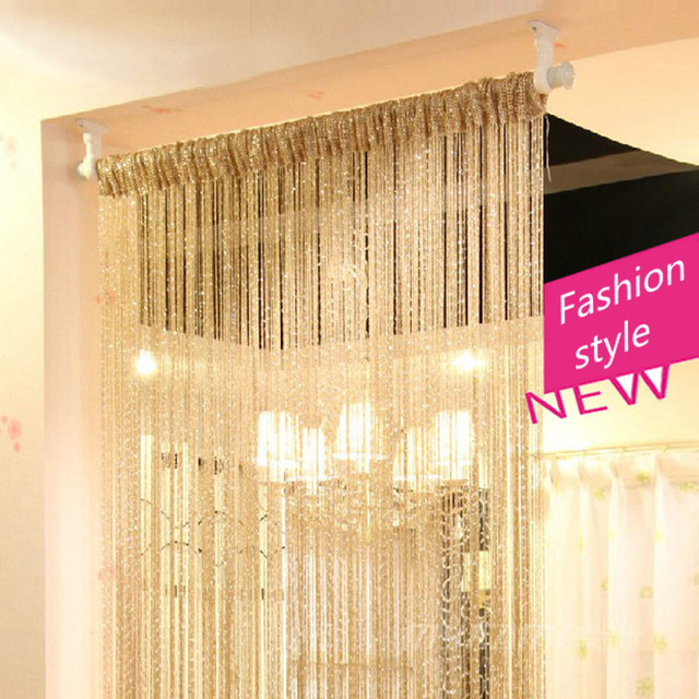 2015 Fashion Decoration Thread Curtain Door Hotel Window Living Room Cafe Shop Roller Blinds