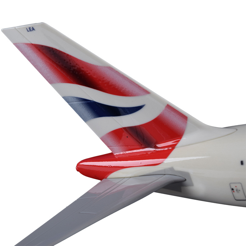 36cm Resin A380 Great British Airplane Model England Airlines Airways Model Plane Aircraft Stand Craft British A380 Airbus Model