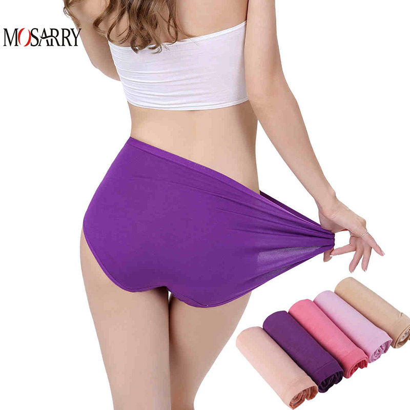 35afd6e8b4a Bamboo Panties Women Daily Underwear Purple Thin Breathable Female Big Size  Briefs Brand Design Ladies Panties