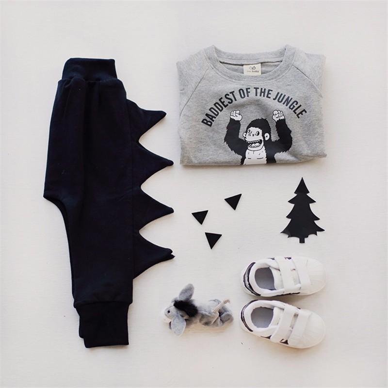 5For Boys Girls Sweater T-Shirts Clothes Autumn Winter New Panda Bear Printing Tops Kids Sweatershirt  Tees Clothing Full Sleeve 2