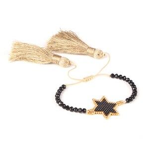 Image 4 - Shinus Lote de pulseras MIYUKI para Mujer, 10 unidades, joyería 2019, pulseras de parejas de estrellas, brazaletes bohemios hechos a mano para verano