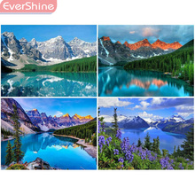 EverShine Diamond Embroidery Full Display Mountain Painting Scenery Picture Of Rhinestones Mosaic Paintings