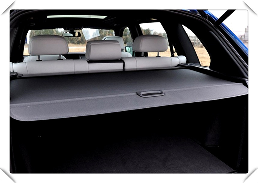 For BMW X5 E70 2008 2009 2010 2011 2012 2013 Rear Trunk Security Shield Cargo Cover auto accessories high quality aluminum canvas black rear cargo cover fit for nissan x trail 2008 2009 2010 2011 2012 2013