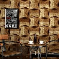 Vintage 3D Effect Brick Wallpaper Roll For Walls Living Room Restaurant Cafe Stone Pattern Background Home
