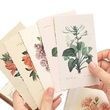 4 팩/많은 빈티지 식물과 꽃 엽서 멀티 비즈니스 인사말 종이 카드 메시지 레이블 초대장 도매