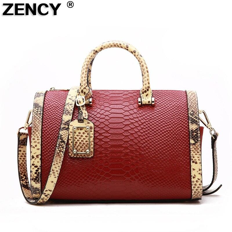 все цены на ZENCY Brand Soft Split Leather Second Layer Cowhide Women Handbag Tote Shoulder Shopping Bag онлайн