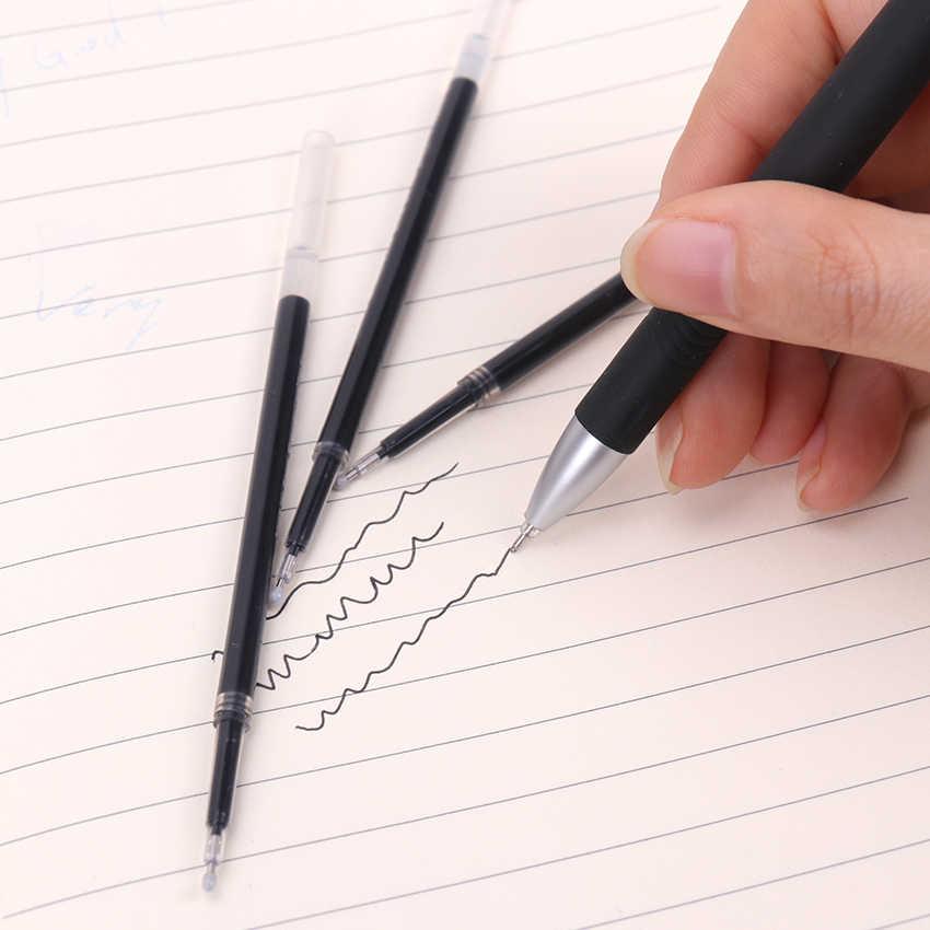 5 шт./лот 0,38 мм Заправка для гелевой ручки набор канцелярских принадлежностей школьные офисные принадлежности инструмент черные чернила стержни для нейтральной гелевой ручки заправка