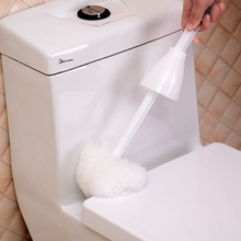 Creative Soft Hair Plastic Long Handle Bathroom Toilet Bowl  Double Side Cleaning Brush