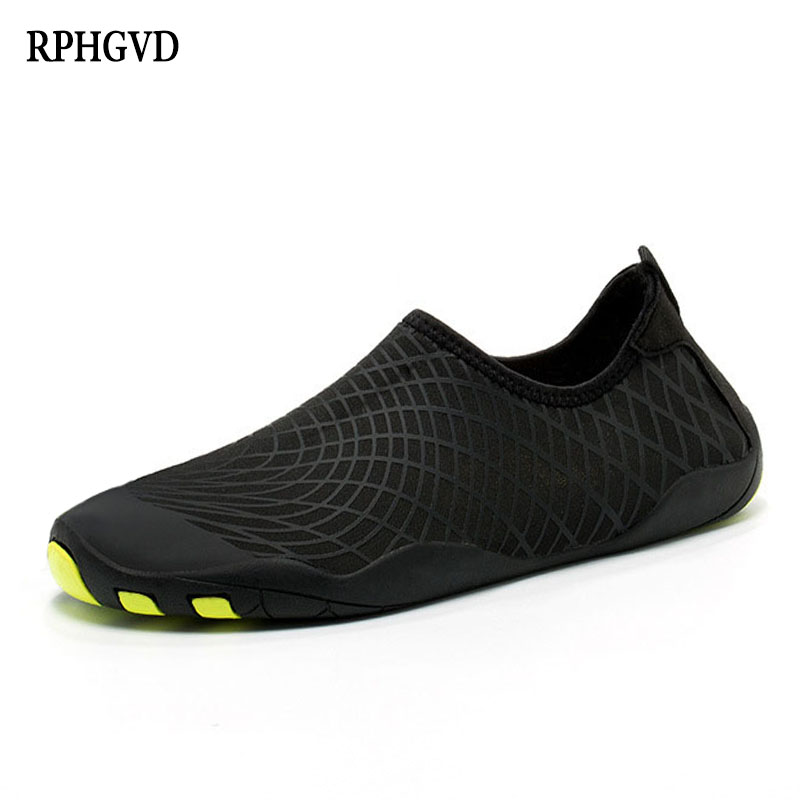 Rain-Boots Tight-Shoes Couple Men's Fashion And Beach Quick-Drying Women