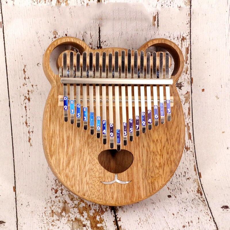 17 clé Kalimba Piano à pouces Africain Doigt Percussion Clavier Musique Instruments Enfants Marimba Bois Kalimba
