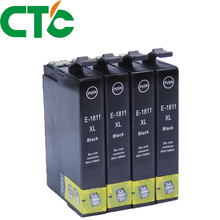 4 Pack 18xl  Black Ink Cartridge Compatible for INK Expression Home XP-30 XP-102 XP-202 XP-205 XP-302 XP-305 XP-402 XP-405