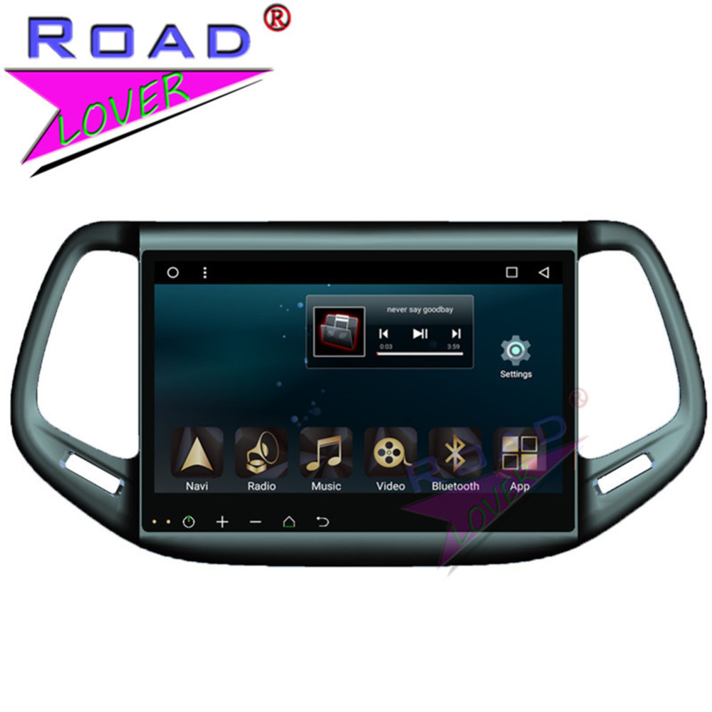 TOPNAVI 2G+32GB Android 6.0 10.1 Octa Core Car Media Center For Jeep Compass 2016 Stereo ...