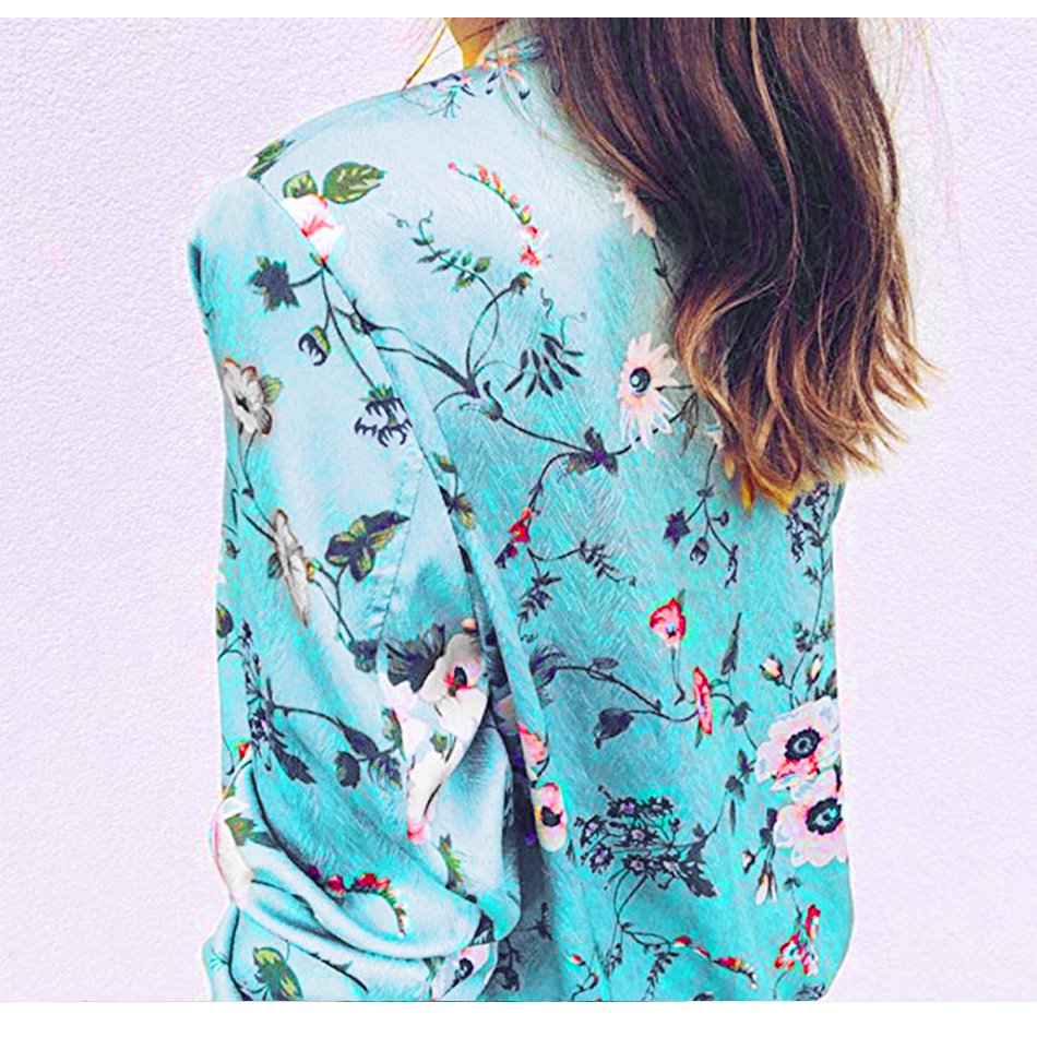 HTB1PGAmSwHqK1RjSZJnq6zNLpXaw Bomber Jacket Women Floral Print Plus Size Coat Spring Summer Ladies Casual Classic O-Neck Long Sleeve Outwears Basic Coats