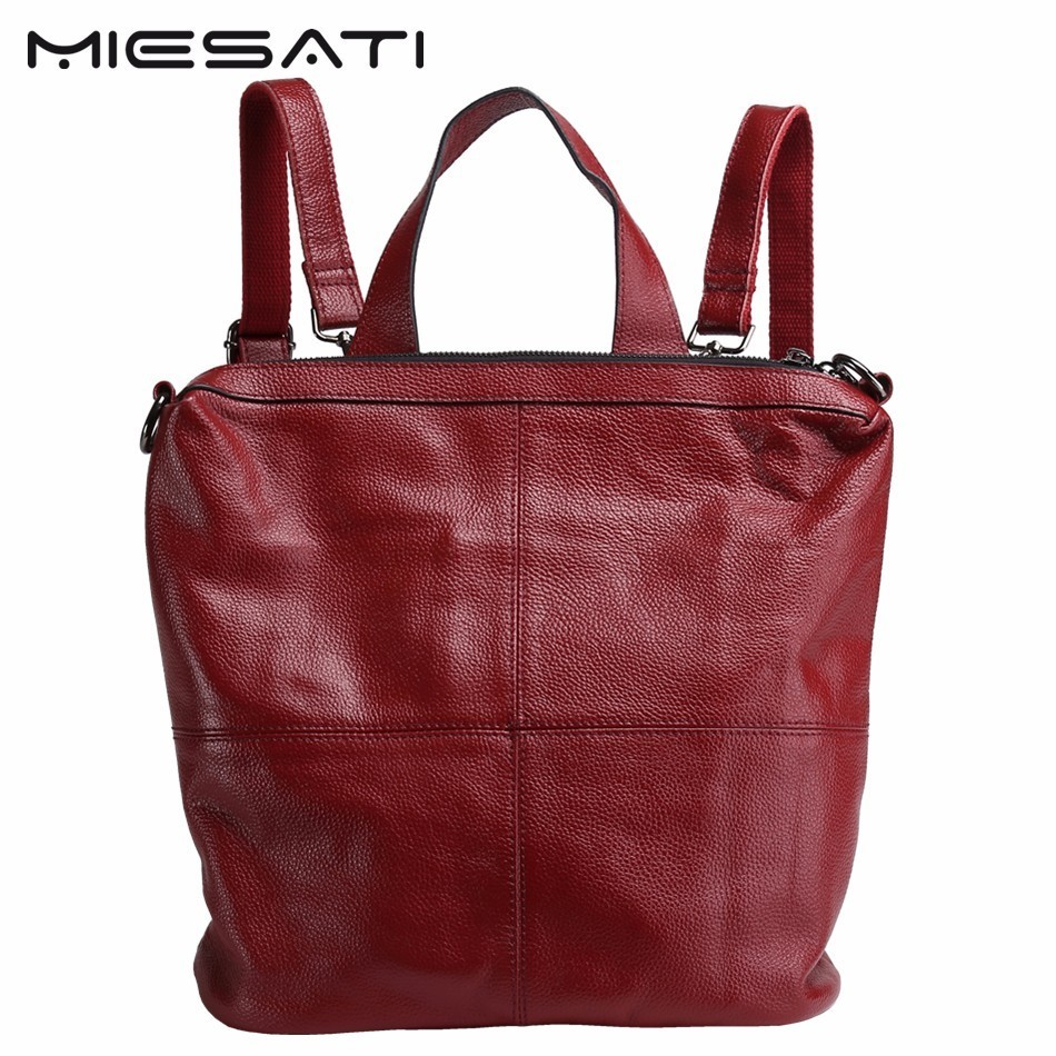 MIESATI Real Genuine Leather Women Backpack School Bags For Teenagers Fashion Ladies Backpack Bags Sac A Dos 2017 New Arrival new arrival women genuine leather backpack young lady real leather backpack luxury female school bags with simple design e143