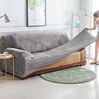 Plüsch stoff Sofa abdeckung Universal Couch Abdeckung Sofa Hussen Maschine Waschbar sitzbank abdeckungen für Haustiere Kinder hause wohnzimmer