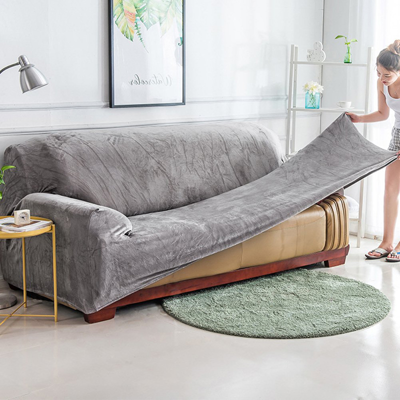 Plush fabric <font><b>Sofa</b></font> cover Universal Couch