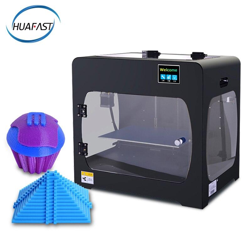 HUAFAST HS-322 doble extrusora impresora 3D gran tamaño de impresión para detección de rotura de filamento de cámara completamente cerrada impresora 3d